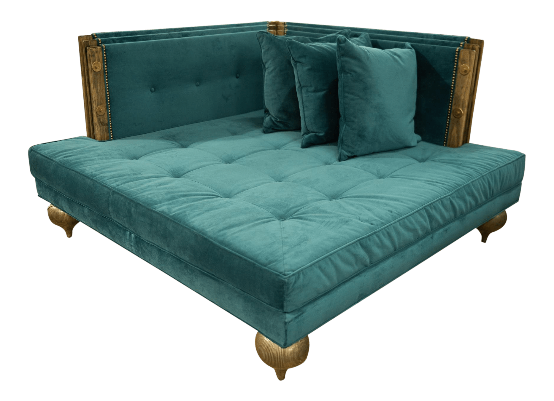 Square Sofa Nick Alain Square Deep Teal Sofa