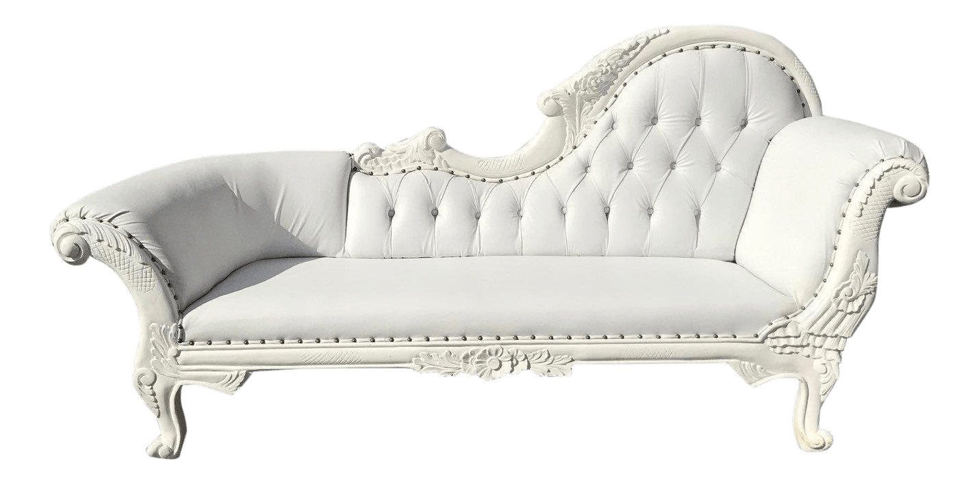 Chaise Style Louis 16 French Louis Xvi Style White Chaise Lounge