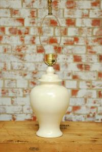 Mid-Century Porcelain Ginger Jar Form Table Lamp | Chairish