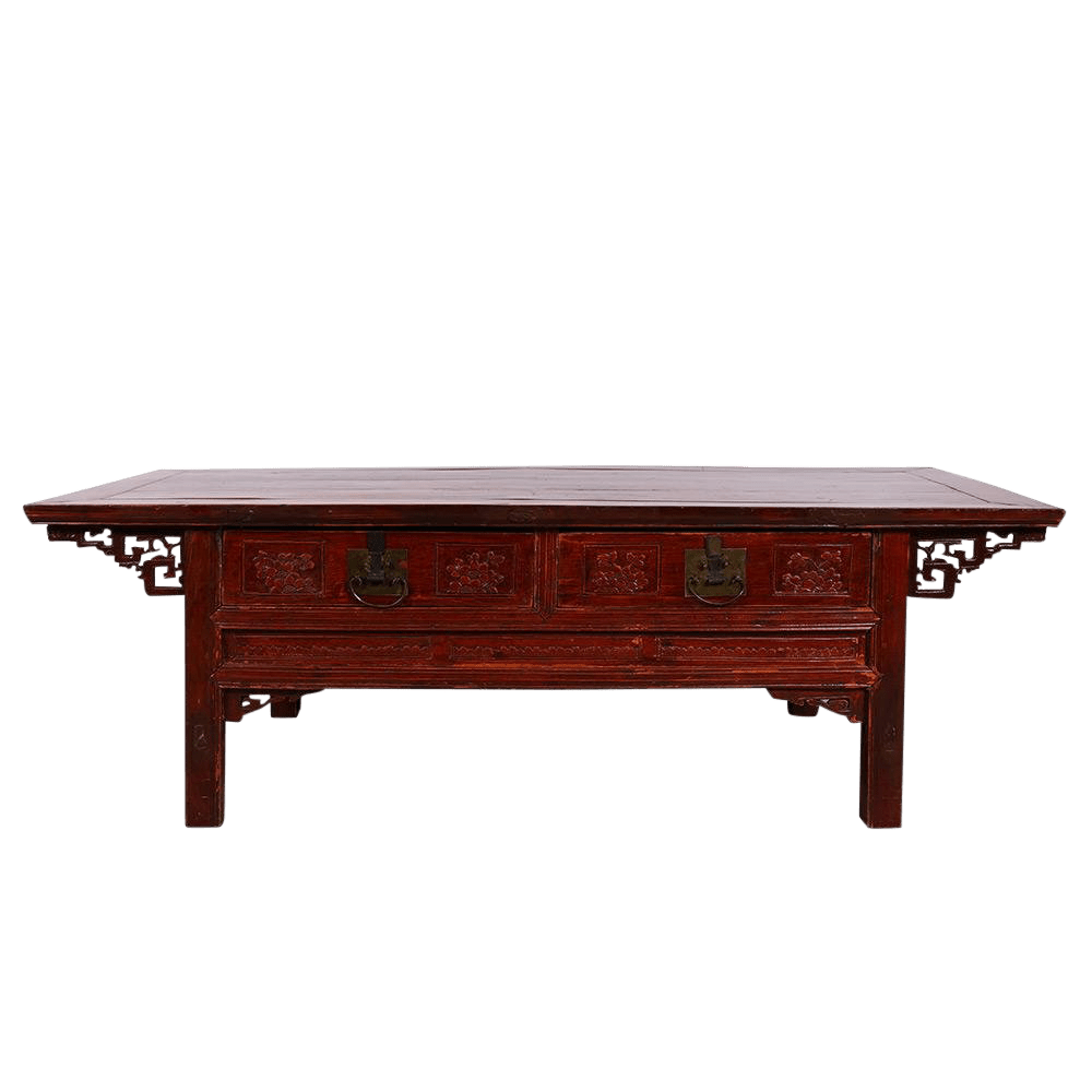 Beautiful Coffee Table Chinese Antique Carved Zhejiang Coffee Table