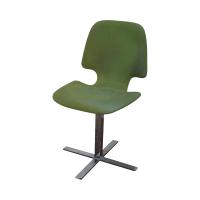 Mid-Century Chrome Pedestal Side Chair | Chairish