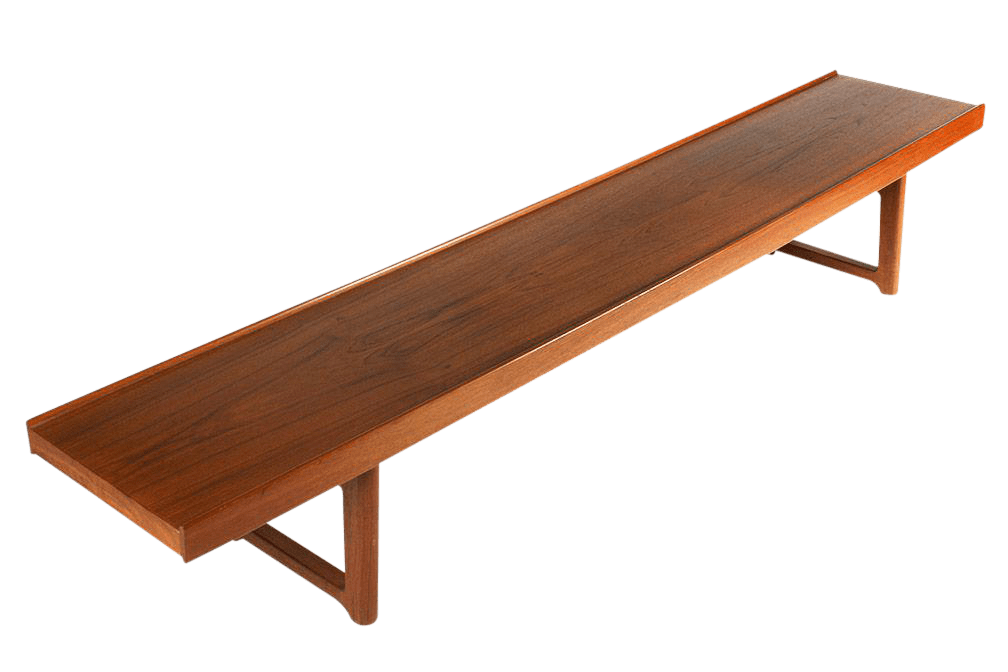 Teak Wandplank Torbjörn Afdal For Bruksbo Long Low Teak Plank Bench