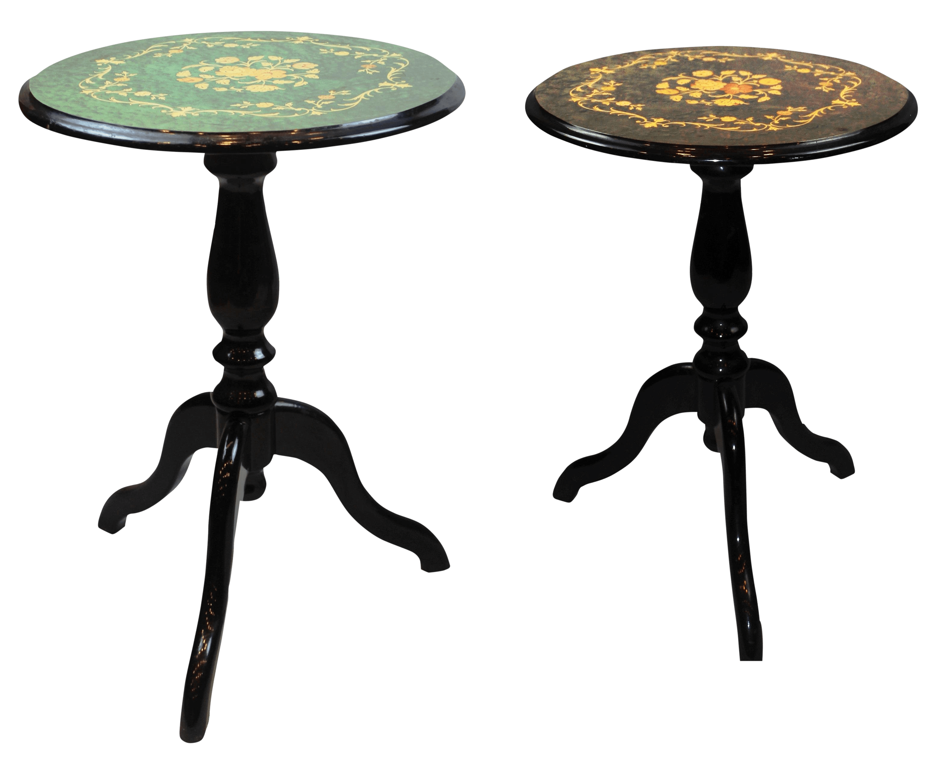 Pasargad Ny Hand Painted Side Tables A Pair Chairish