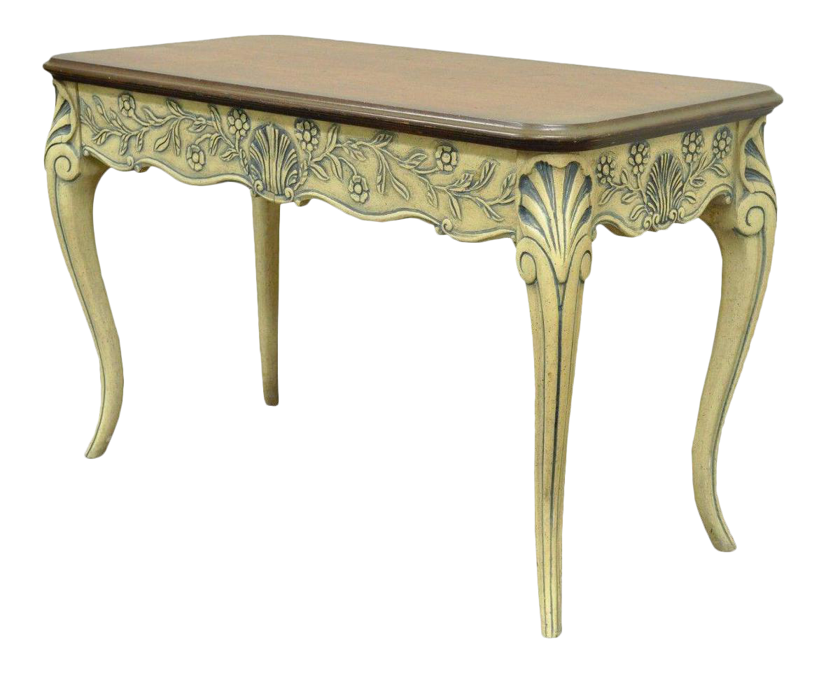 Vintage Hall Table Vintage Louis Xv French Country Style Shell Carved 2 Drawer Console Hall Table