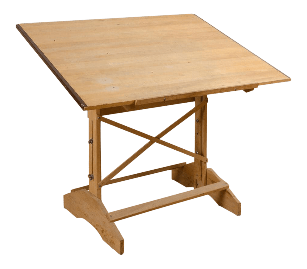 Adjustable Height Drafting Table Vintage Wooden Drafting Table Adjustable In Height And Pitch