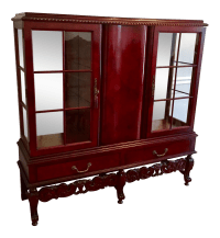 Antique Dutch Mahogany China Cabinet