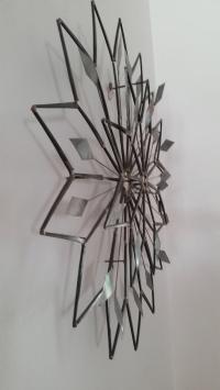 Mid-Century Modern Metal Starburst Wall Sculpture | Chairish