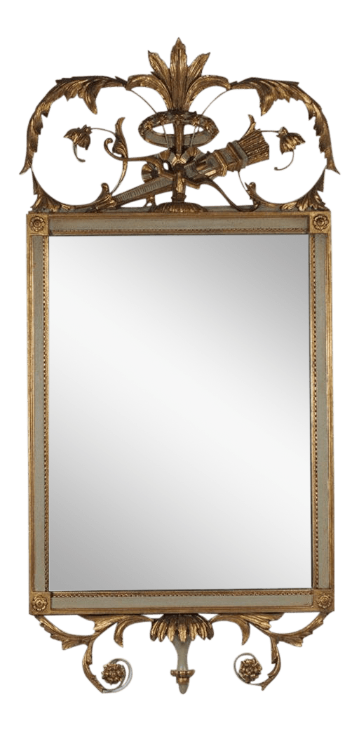 Decorative Mirror Friedman Brothers French Style Gold Gilt And Painted Decorative Mirror
