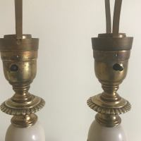 Antique Rembrandt Table Lamps - A Pair | Chairish