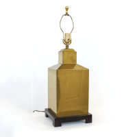 Hollywood Regency Brass Canister Lamp | Chairish