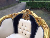 Antique Black & White Louis XVI Chairs - a Pair | Chairish