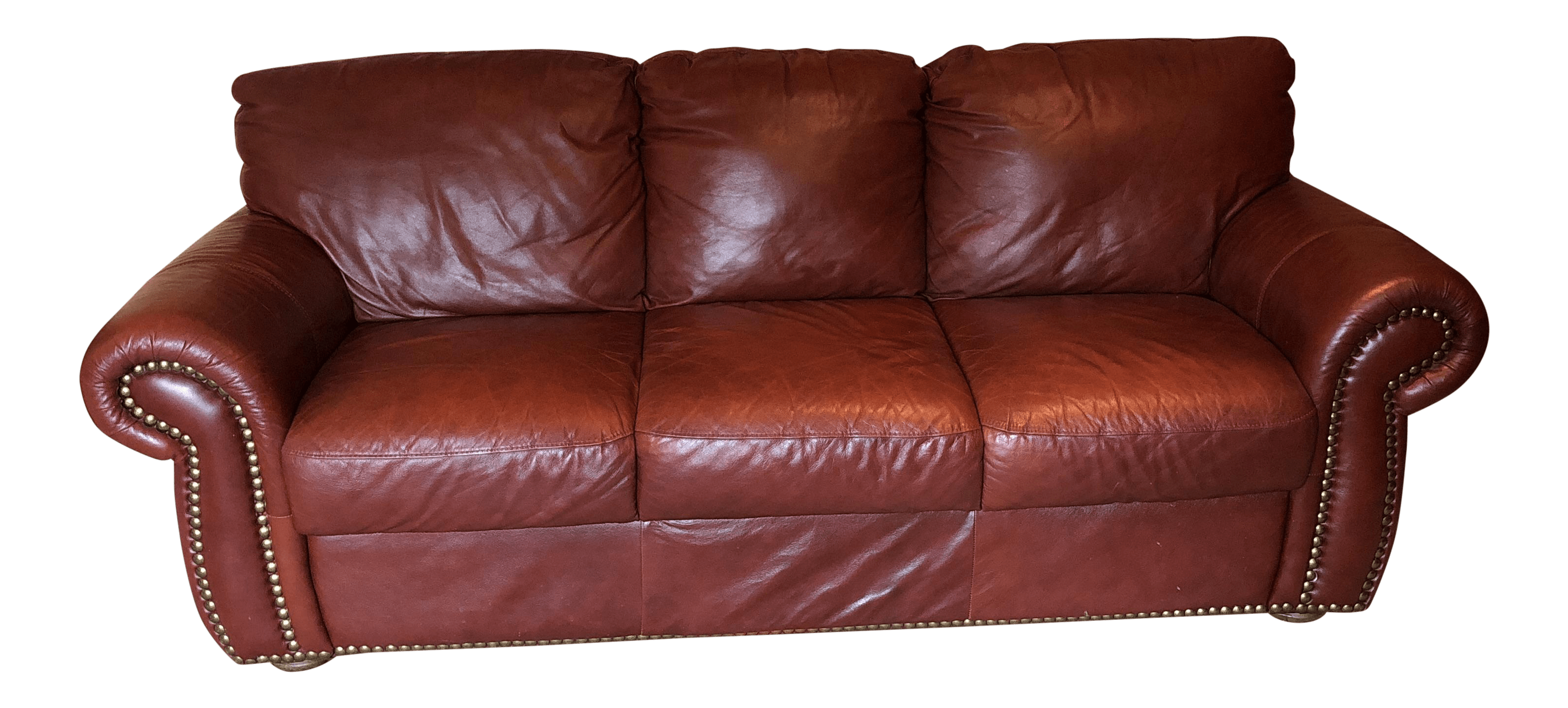 Divani Incanto Group Chateau D Ax Divani Italian Red Leather Sofa