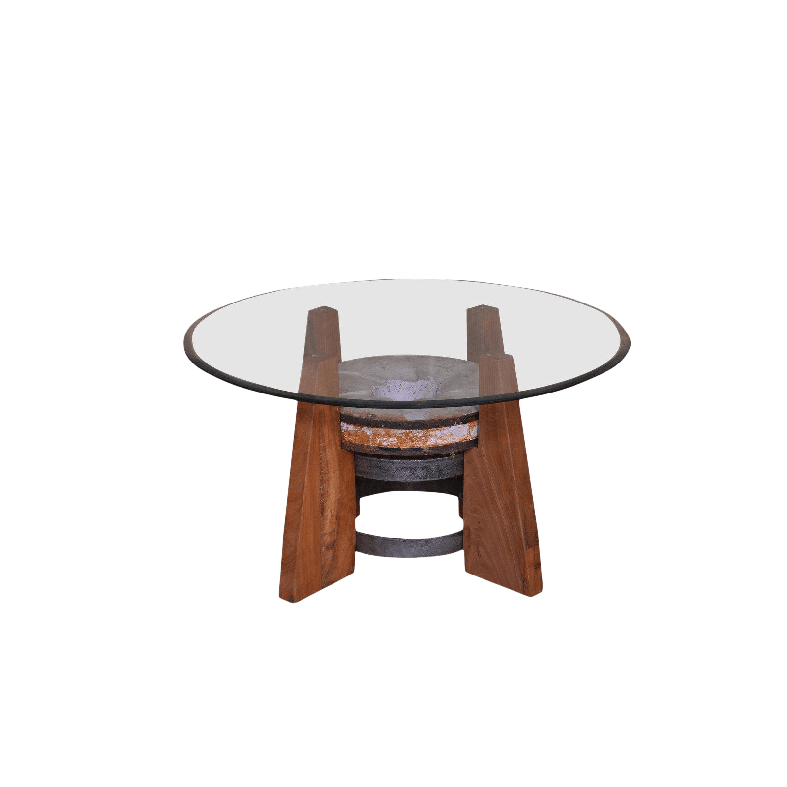 Round Glass Top Coffee Table Rustic Round Glass Top Coffee Table