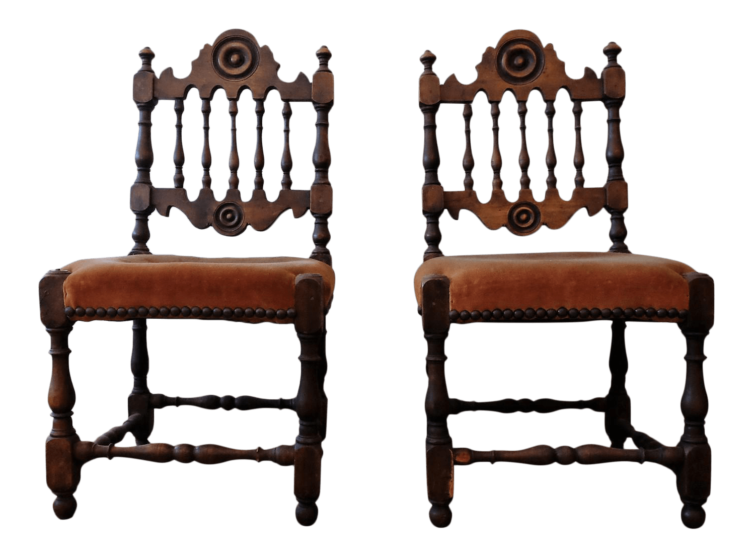 Upholstered Children's Chairs Antique Children S Chairs Upholstered In Vintage Fabric A Pair