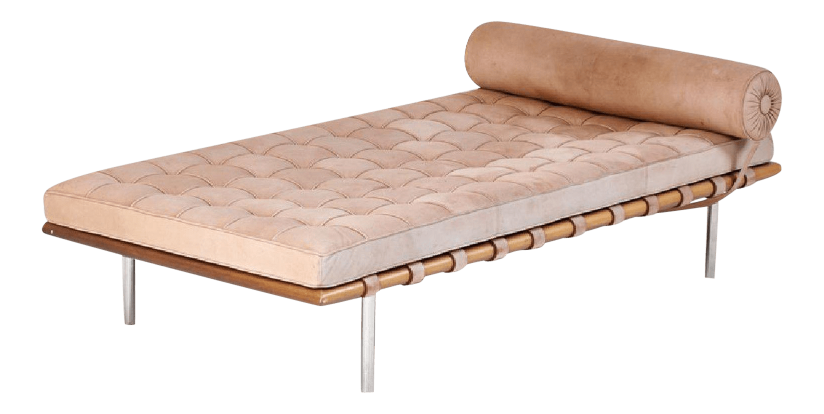 Barcelona Daybed Barcelona Daybed By Mies Van Der Rohe For Knoll Suede Chaise