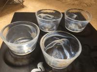 "Orrefors -Kosta Boda Glass Dishes / ""Mine"" Bowls (Set of 4 ..."