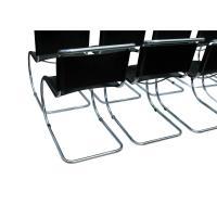 1 Tubular Chrome Black Leather Mr Chair by Mies Van Der ...