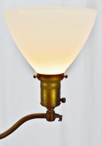 Art Deco Mutual Sunset Brass and Onyx Floor Lamp | Chairish