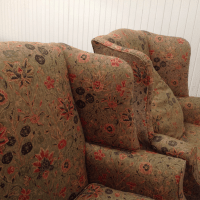 Hepplewhite Wing Chairs With Ralph Lauren Fabric - A Pair ...