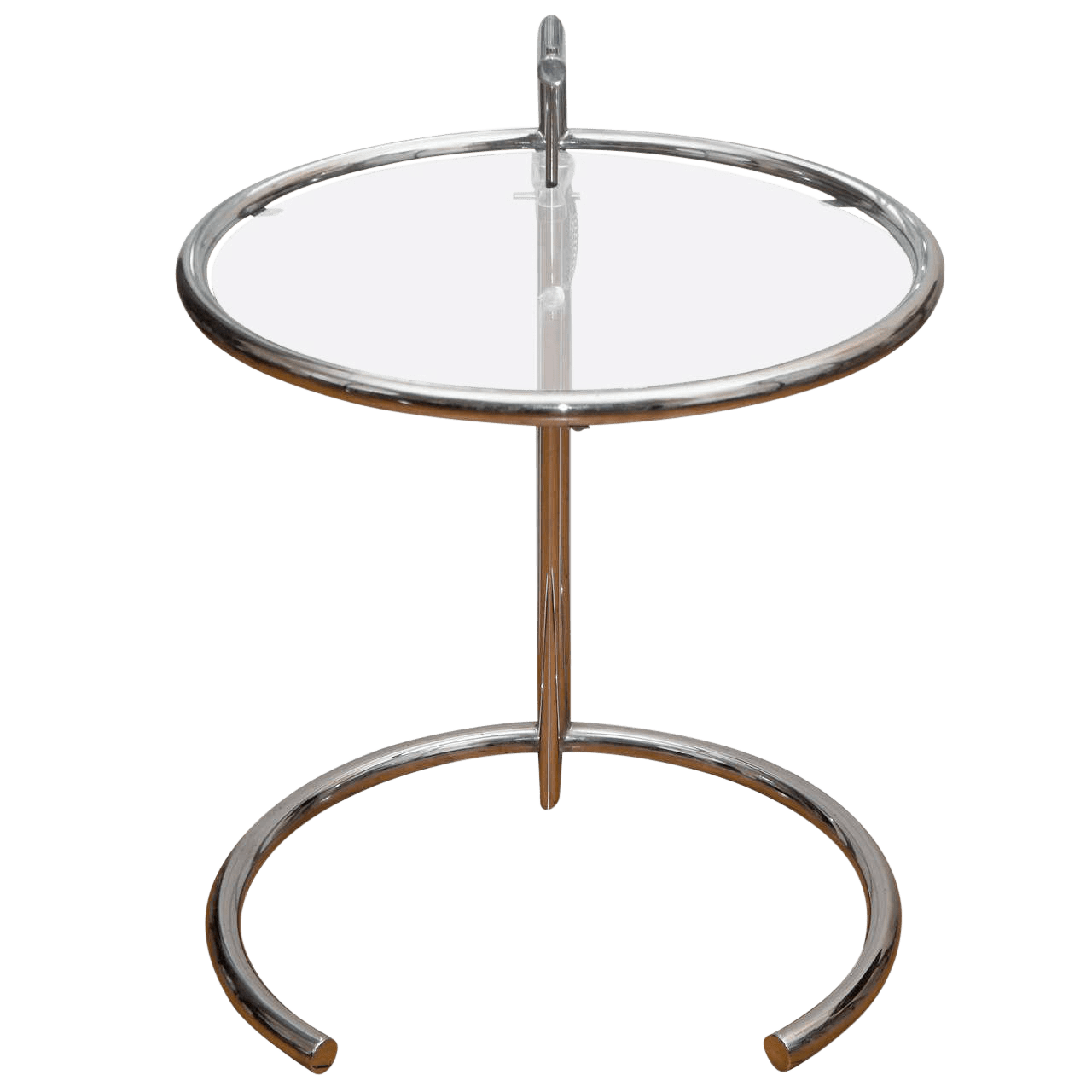 Eileen Gray Table Eileen Gray Chrome Glass Adjustable Table
