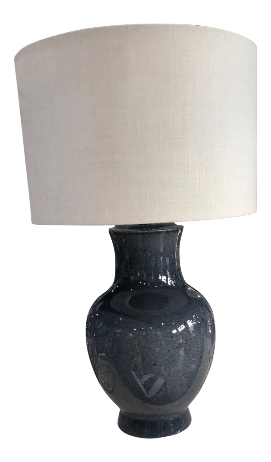 Asian Table Lamp Asian Style Porcelain Blue Gray Glazed Table Lamp