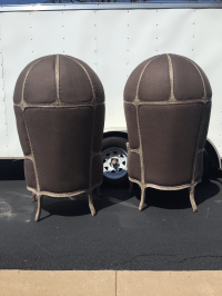 Restoration Hardware Versailles Dome Chairs - Pair | Chairish