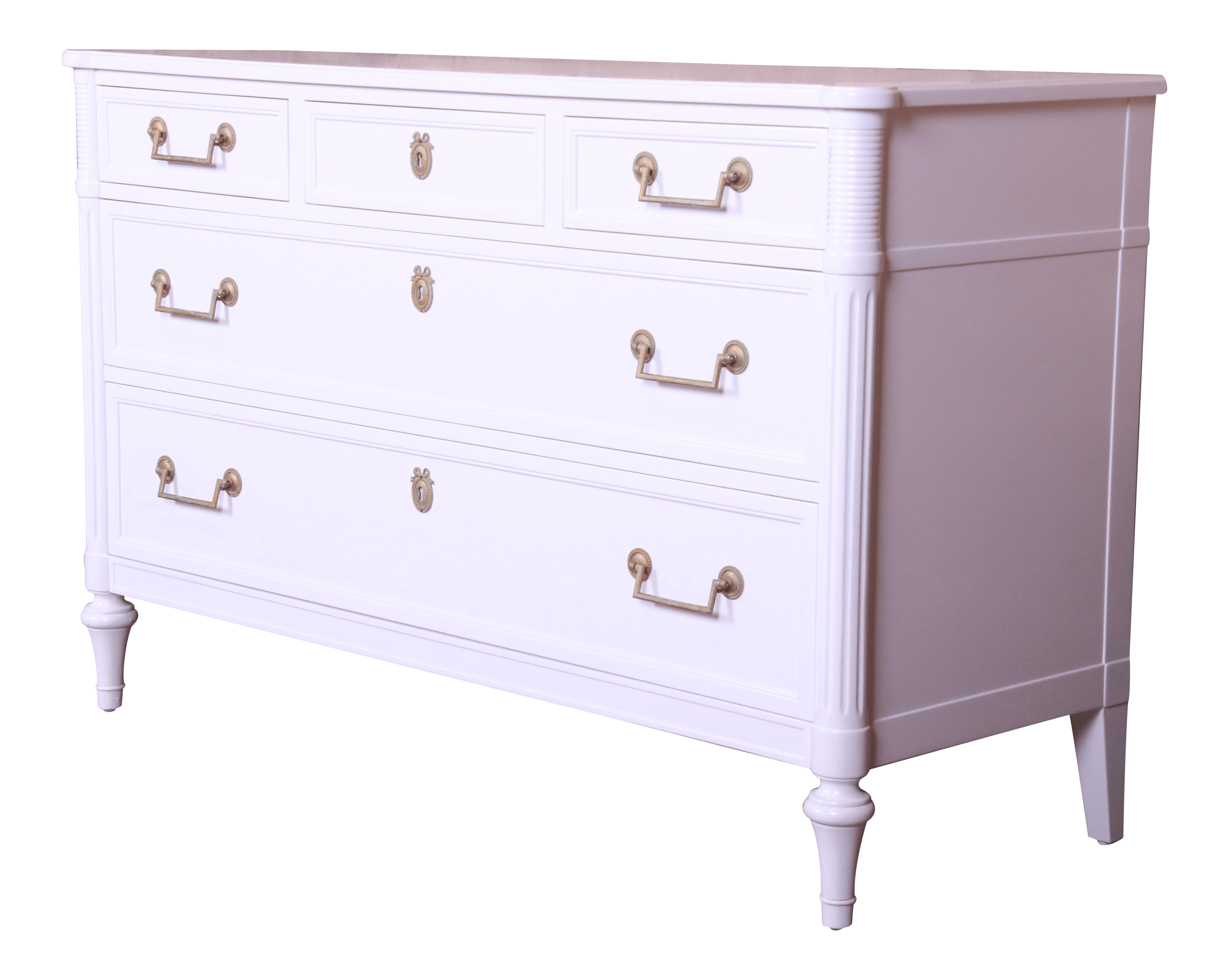 Kindel Furniture French Regency Directoire White Lacquered Dresser Or Credenza Newly Refinished Chairish