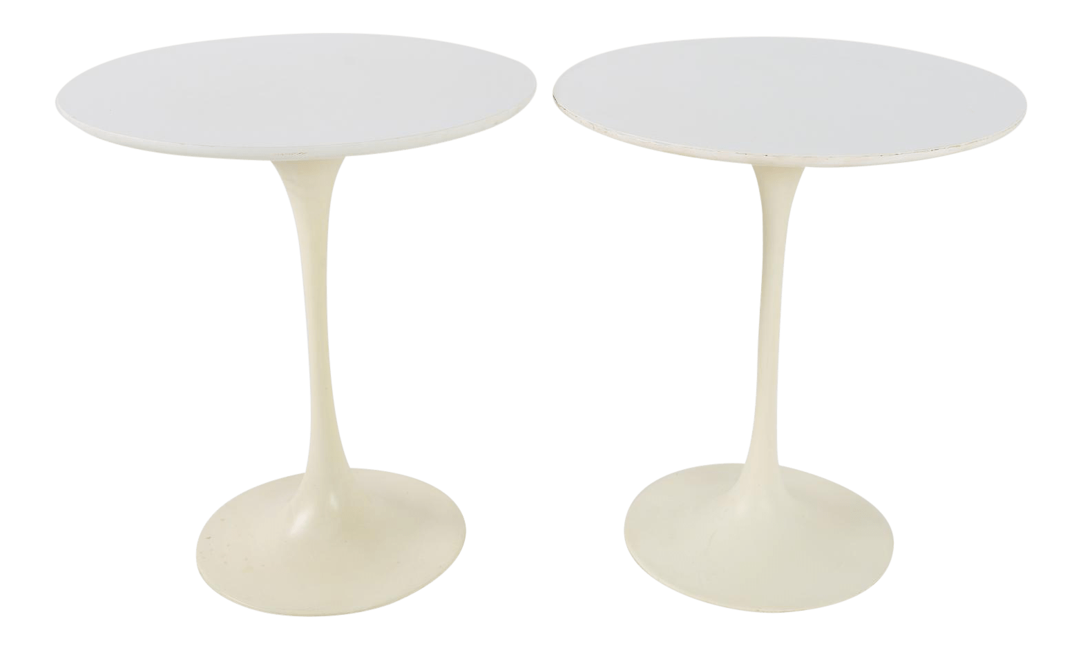 Tables Knoll 1960s Mid Century Modern Eero Saarinen For Knoll Round Tulip Side Tables A Pair