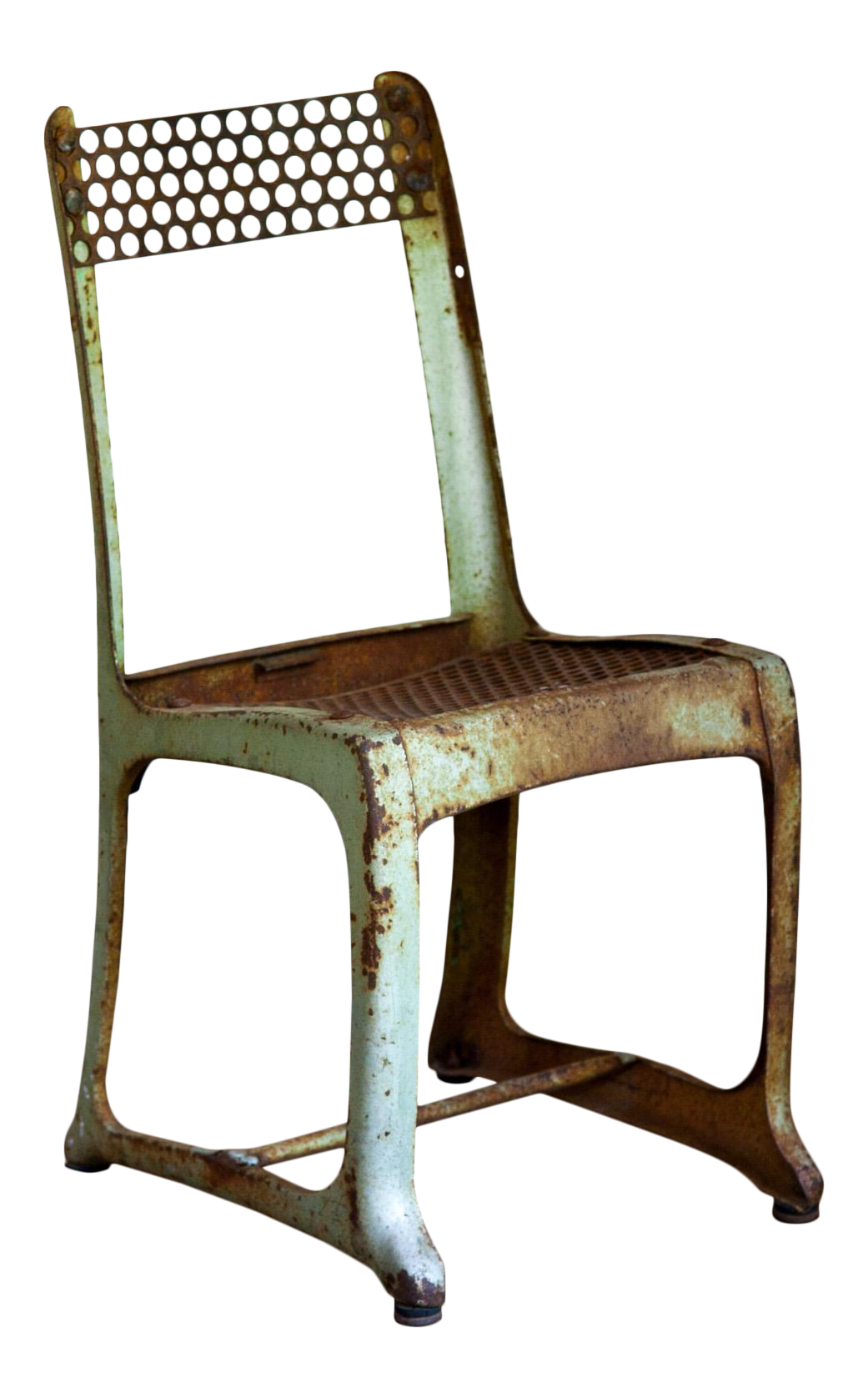 1950s Vintage Metal Envoy 13 Vintage Americana School Chair Chairish