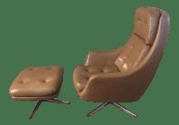 Mid-Century Overman Lounge Chair & Ottoman | Chairish