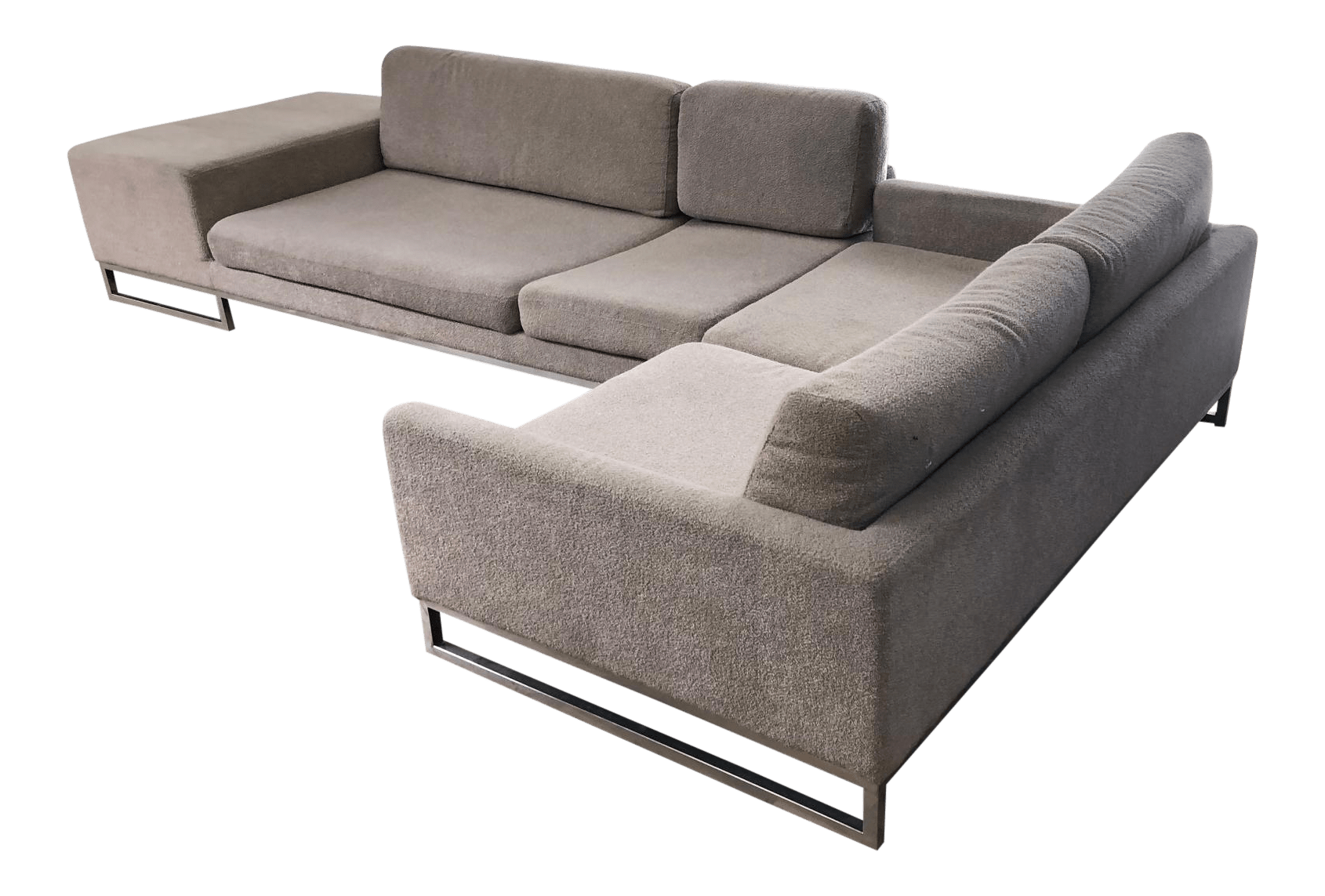 Modern Couch Ligne Roset Styled Sectional Modern Sofa With Chrome Base