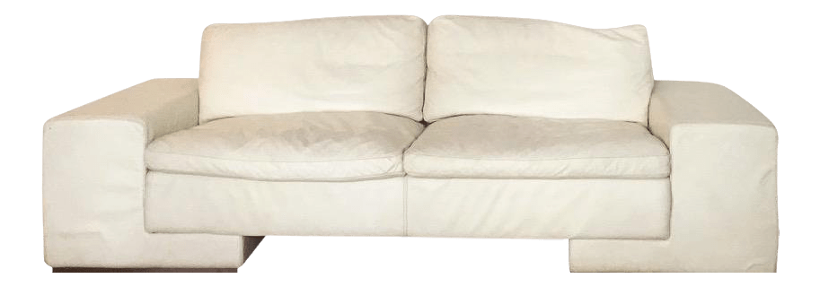 White Leather Couch 1950s Vintage Roche Bobois White Leather Sofa