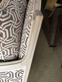 New Louis Style Living Room Chairs - A Pair   Chairish