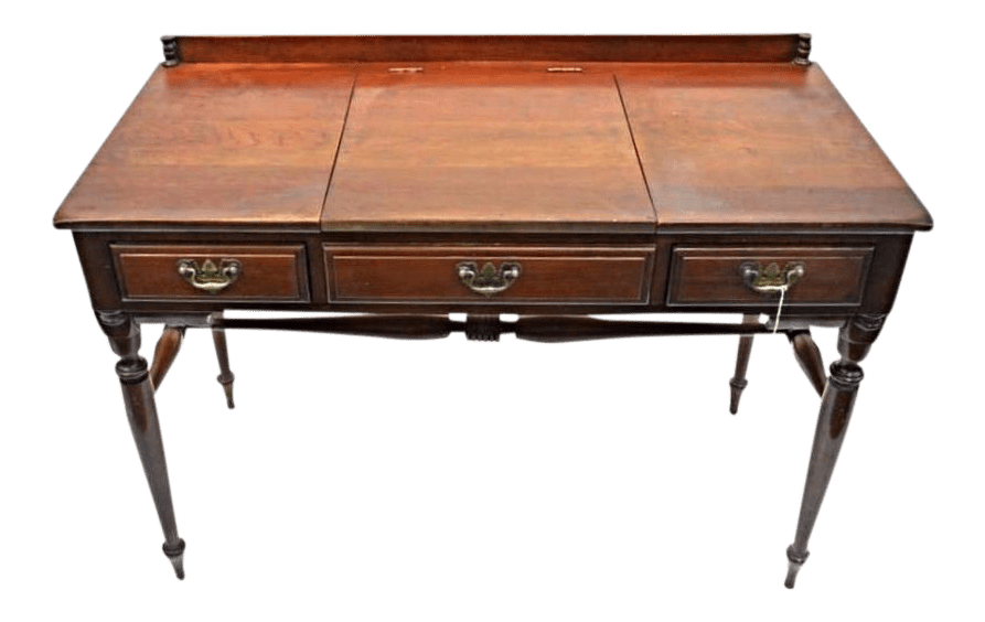 Monitor Furniture Cherry Chippendale Poudre Table Dresser Antique Desk Chairish