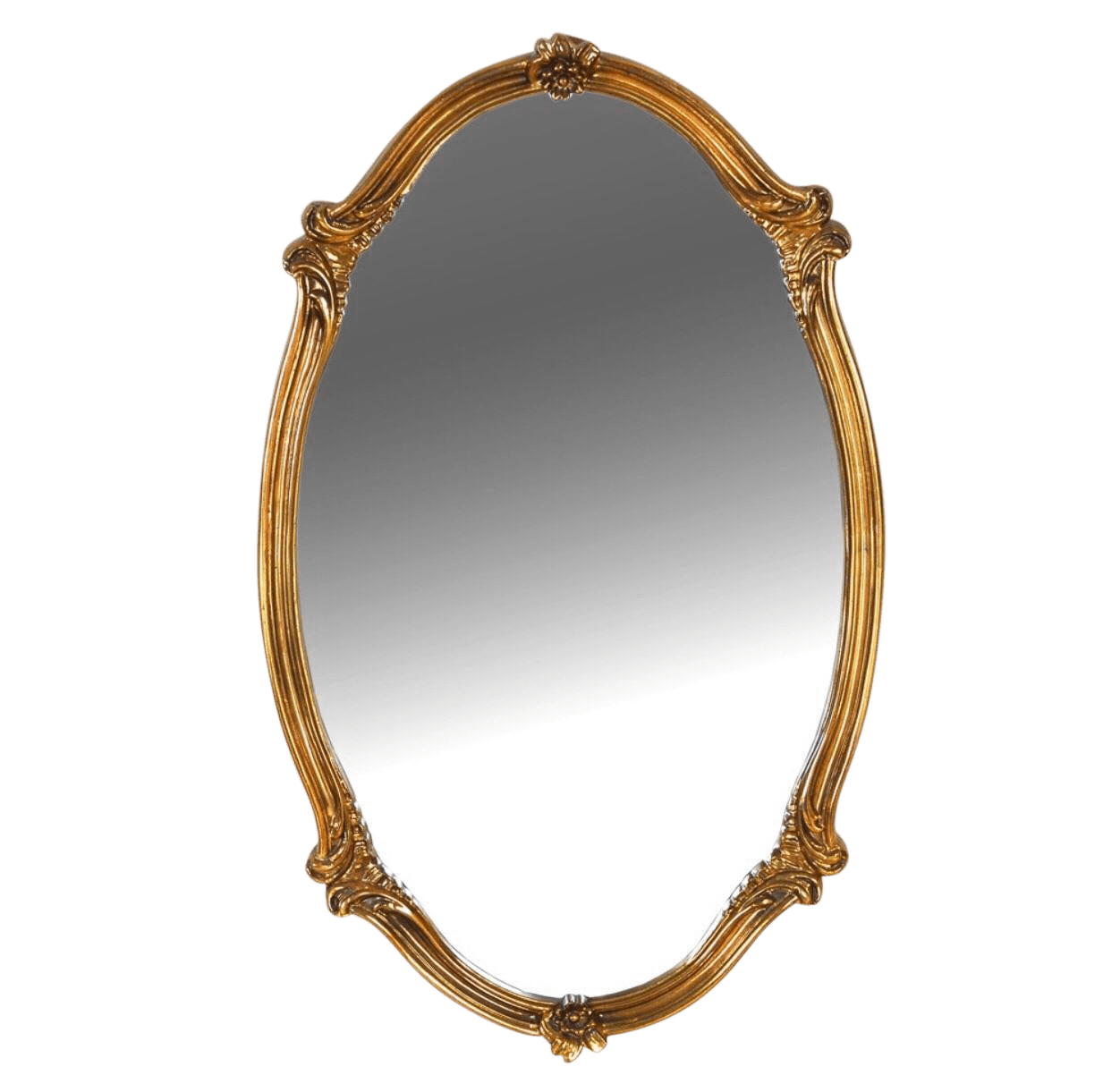 Oval Mirror Wood Frame Vintage Mid Century Carolina Company Gilt Wood Oval Mirror