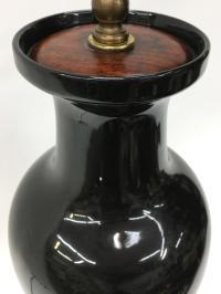 Black Modern Vase Lamp | Chairish