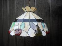 Vintage Stained-Slag Glass Chandelier | Chairish