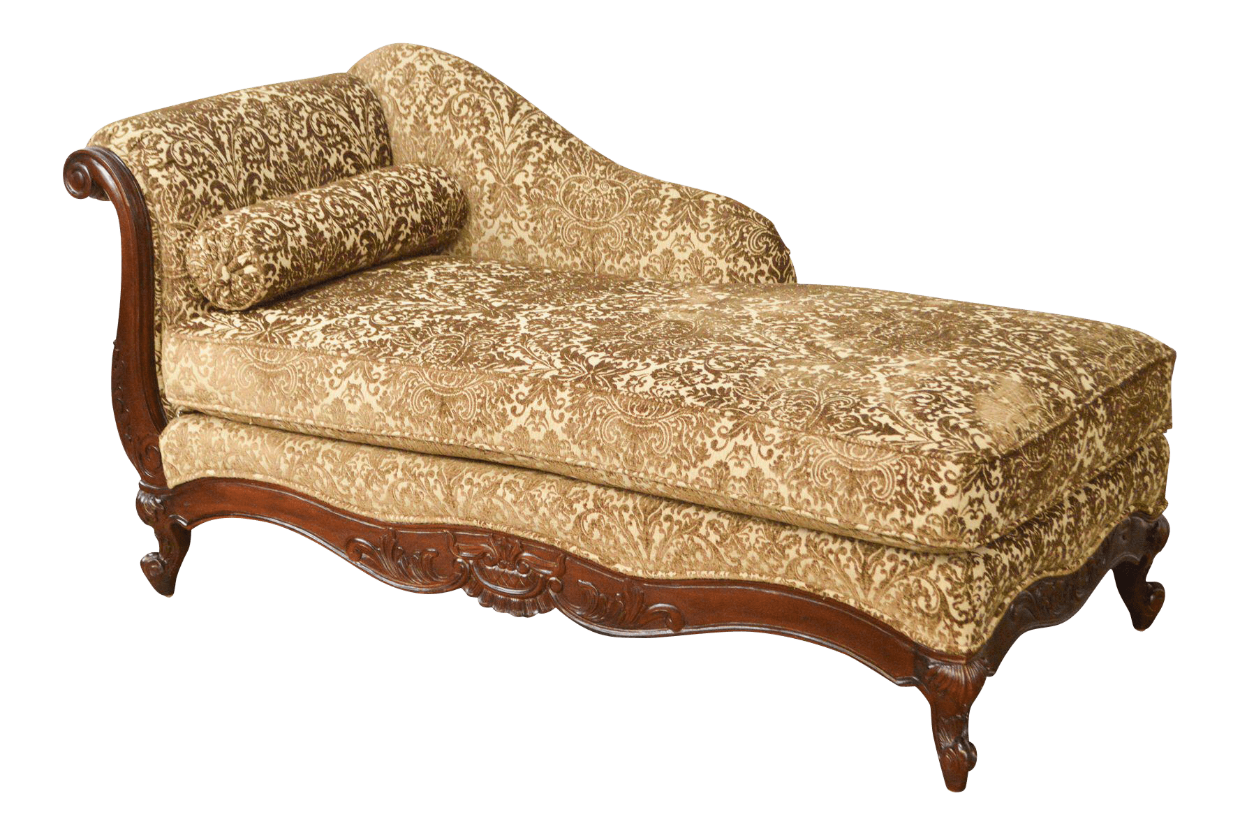 Chaise Style Kravet Custom Upholstered French Louis Xv Style Recamier Chaise Lounge