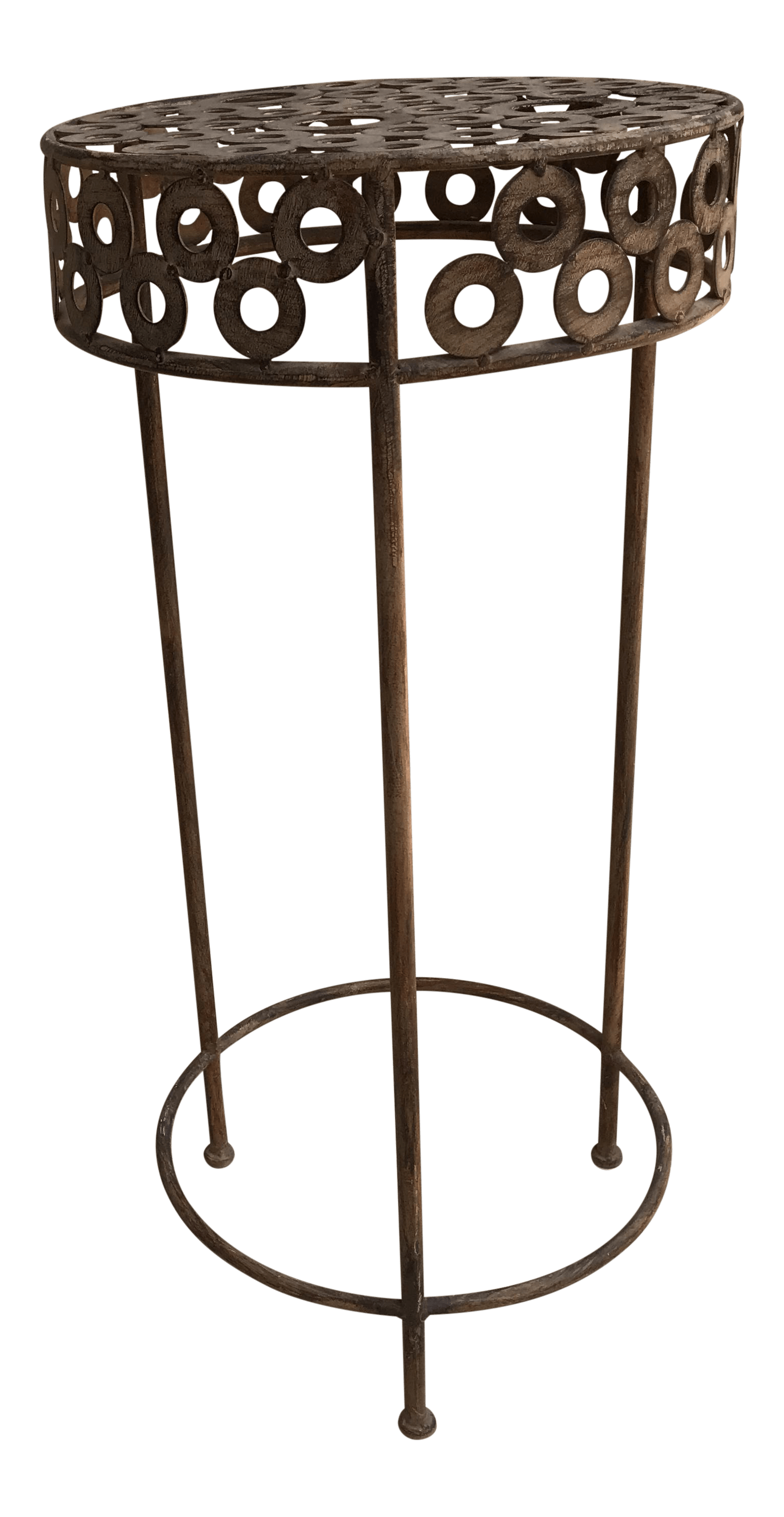 Modern Outdoor Plant Stand Modern Metal Patio Plant Stand Chairish