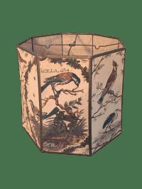 Vintage Cloth Lamp Shade | Chairish