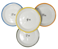 French Bistro Change Plates - Set of 4 | Chairish