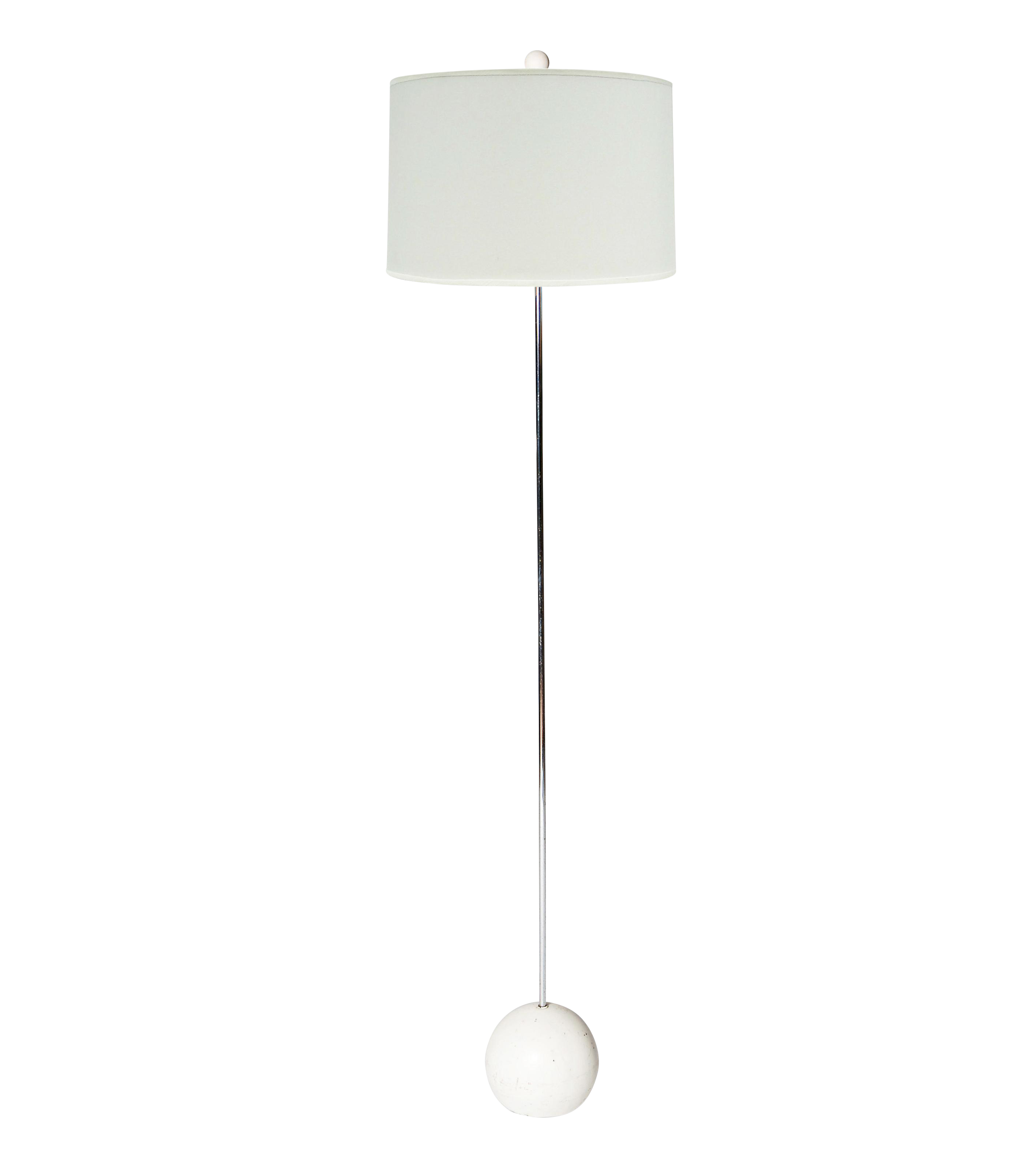 White Base Floor Lamp Weighted White Ball Base Floor Lamp Chairish