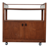 Mid-Century Modern Bar Cart | Chairish