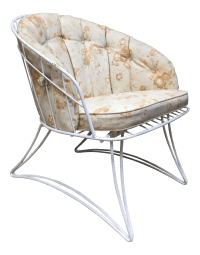 Mid Century Modern White Homecrest Metal Patio Chair ...