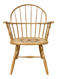 Arles Yellow Painted Vintage Windsor Chair | Chairish