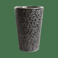 Black Marble Carved Pedestal Sink | Chairish
