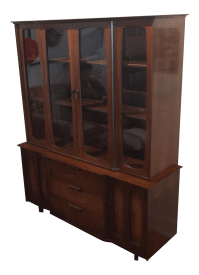 Mid-Century Modern China Cabinet by Stanley | Chairish