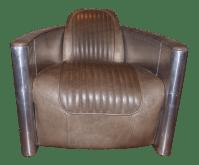 Restoration Hardware Aviator Swivel Chair | Chairish