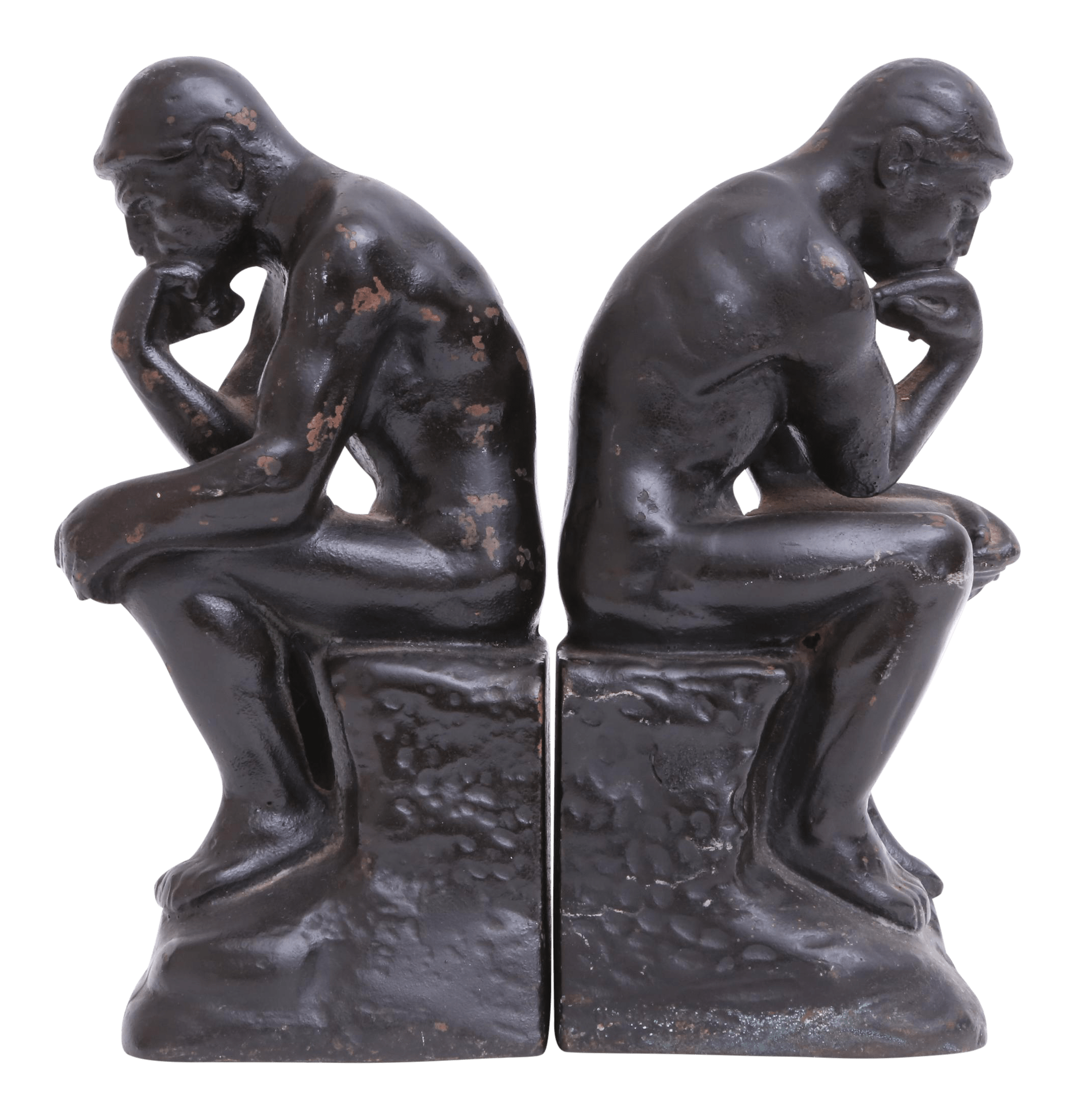 Classic Bookends Vintage Thinker Bookends A Pair Chairish