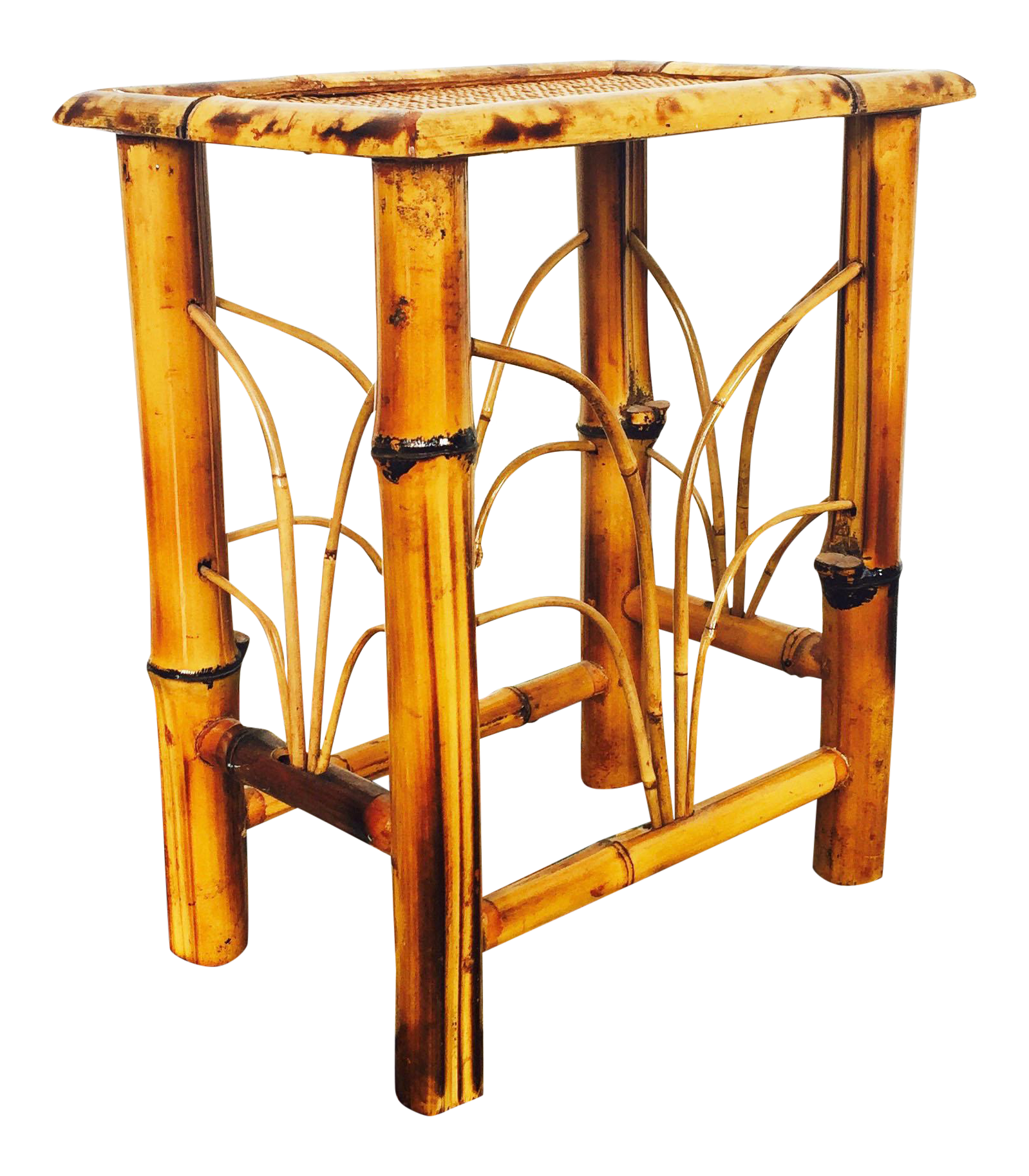 Bamboo Planter Stand Vintage Bamboo Plant Stand Chairish
